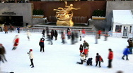 Ice Skating on Christmas day Stock Footage