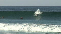 Surfer misses wave Stock Footage