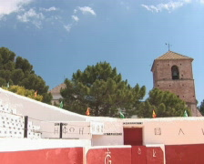 PAL: Bull fighting arena Stock Footage
