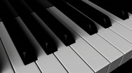Stock Video Footage of Piano Keyboard (Loop)