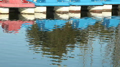 Paddle boats Stock Footage