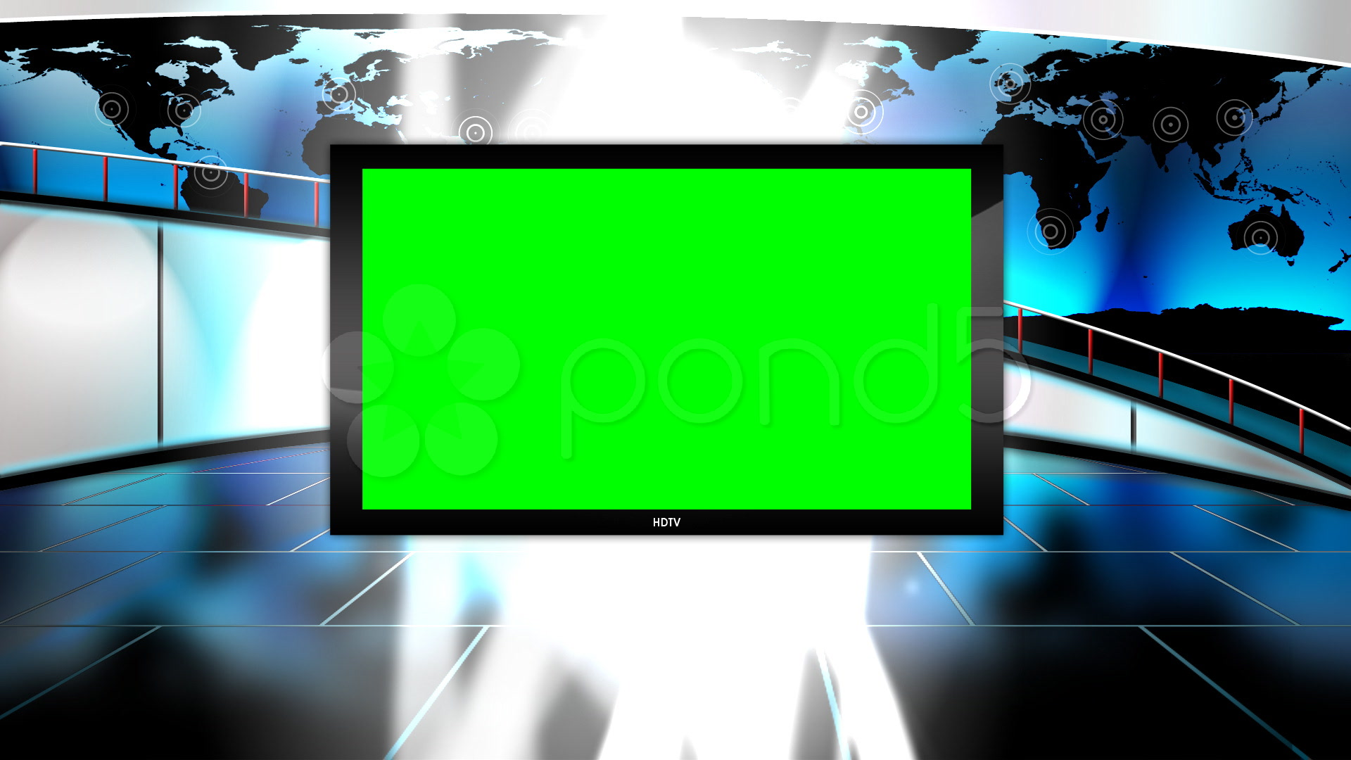 Virtual Studio Background for Green Screen Chromakey