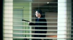 gunman - stock footage