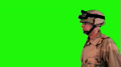 Soldier saluting Stock Footage