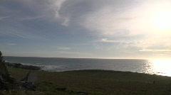 Ocean Hillside Time Lapse Stock Footage