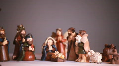 Dolly nativity scene Stock Footage