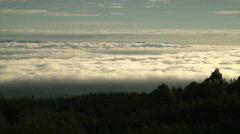 Africa kilimanjaro low cloud Stock Footage