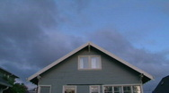 Stock Video Footage of Full Sunset Over House