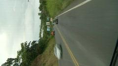 Drive plate, Vertical - Pan-American highway, Costa Rica, #1 Stock Footage