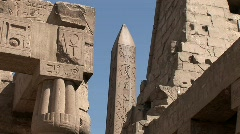 Luxor Temple in Egypt Stock Footage