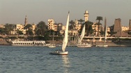Stock Video Footage of Nile in Egypt