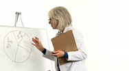 Stock Video Footage of doctor doing demonstration on white board