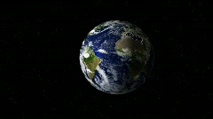 Earth and moon loop Stock Footage