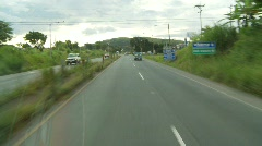 Drive plate, Pan-American highway, Costa Rica, #2 Stock Footage
