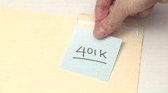Post it note 401K - HD  Stock Footage