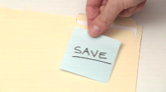 Post it note SAVE - HD  - stock footage