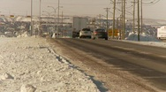 Truck buried in ditch after snow storm, #4 Stock Footage