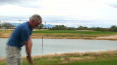 Man playing golf - HD  Stock Footage
