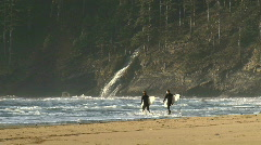 A Couple of Surfers 1 of 5 Stock Footage
