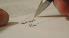 HD1080p Signature writing Stock Footage