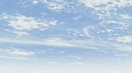 Gentle moving clouds against bright blue sky Stock Footage
