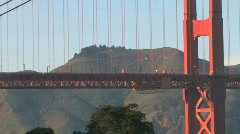 Stock Video Footage of Golden Gate Bridge - Northbound Cars (Zoom Back)