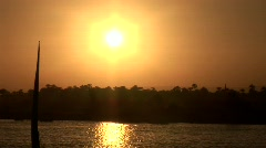 Nile at Night in Egypt - stock footage