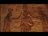 Stock Video Footage of abu simbel queen temple interior heiro 03