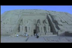 Abu simbel exterior wide Stock Footage