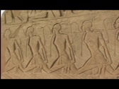 Stock Video Footage of abu simbel exterior frieze pan