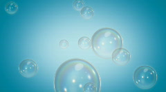 Loopable Soap Bubbles Blue HD Stock Footage