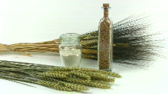 Wheat plants and products. Stock Footage