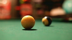 Hitting Cue Ball with Pool Stick Stock Footage