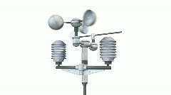 Meteorological weatherstation - anemometer Stock Footage