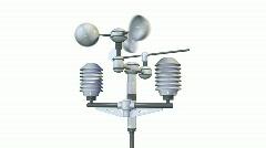 Meteorological weatherstation - anemometer Stock Footage
