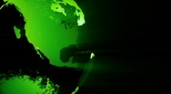 Stock Video Footage of Green Earth Rotate Loop