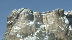 P00829 Mount Rushmore National Memorial in Winter Stock Footage