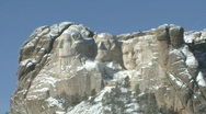Stock Video Footage of P00829 Mount Rushmore National Memorial in Winter