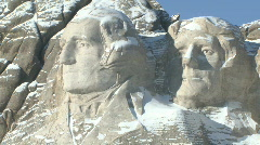 P00830 Presidents on Mount Rushmore Stock Footage