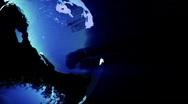 Blue Earth Rotate Loop  Stock Footage