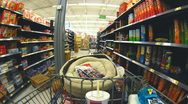 Time Lapse of Shopping Cart and Shopping 1 of 3 Stock Footage