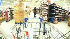 Time Lapse of Shopping Cart and Shopping 3 of 3 - stock footage