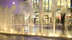 Fountains at Shopping Center Stock Footage