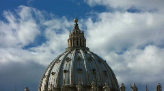 Stock Video Footage of Saint Peter's Basilica and Square
