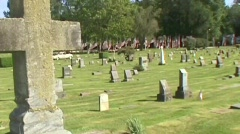 Single Cross Zoom Out (Memorial Day) Stock Footage