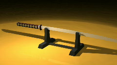 Katana japanese sword Stock Footage