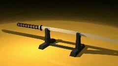 katana japanese sword - stock footage