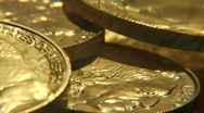 Solid gold montage Stock Footage