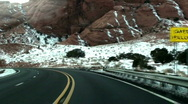 On The Road Time Lapse Stock Footage