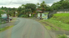 Drive plate, through a Costan Rican town Stock Footage